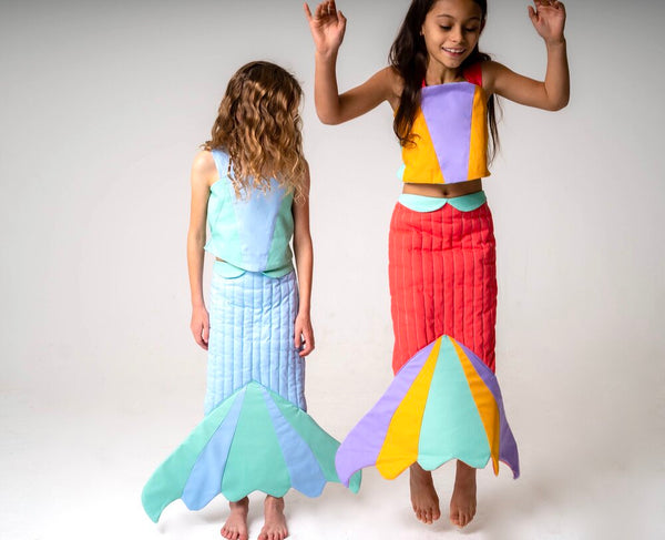 Mermaid Tail for Kids, Girls Mermaid Costume - Rainbow