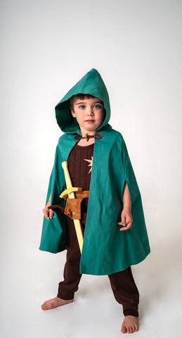 Tunic or Vest for Kids Warrior, Knight Costume - Brown and Silver