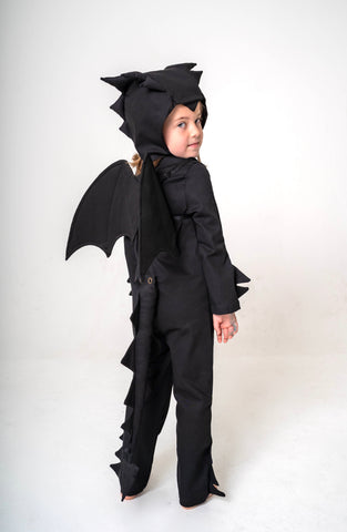 Dragon Tail for Kids Dragon Costume - Black