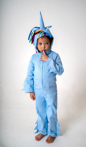 Unicorn Hood for Kids Unicorn Costume - Rainbow and Blue, Rainbow Dash
