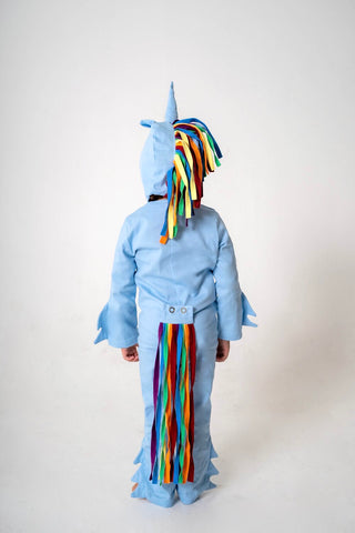 Unicorn Tail for Kids Unicorn Costume - Rainbow and Blue, Rainbow Dash