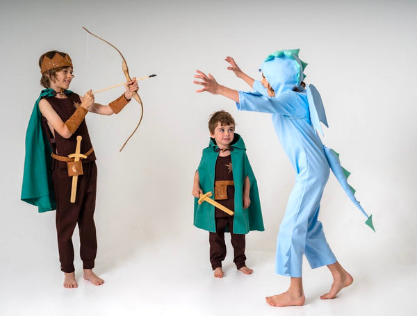 Trousers / Pants for Kids Warrior, Knight, Elf Costume - Brown