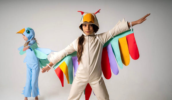 Bird Tail for Kids Bird Costume - Rainbow