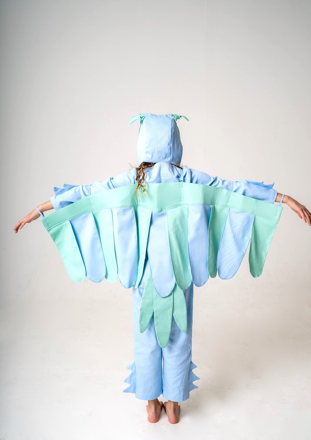 Bird Tail for Kids Bird Costume - Blue