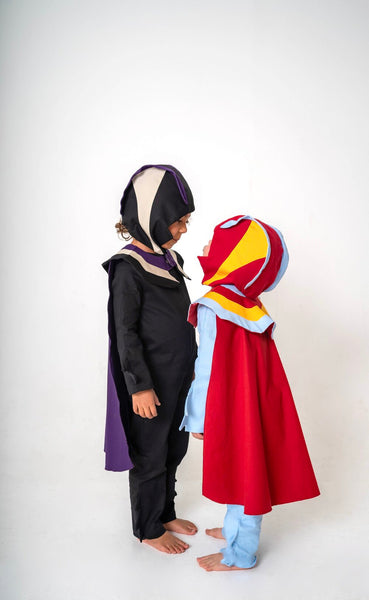 Super Hero Cape for Kids Super Hero Costume  - Red, Blue and Yellow