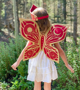 Celestial Fairy Wings - Red and Gold