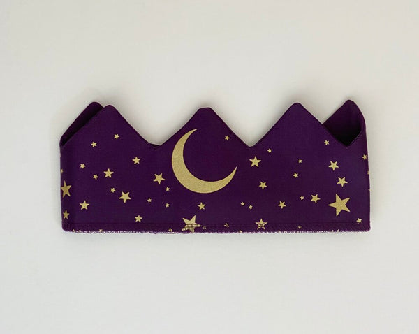 Celestial Crown with Moon and Stars