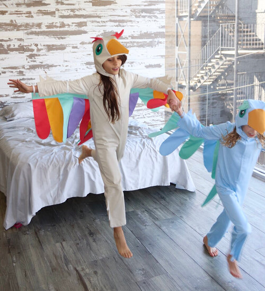 Jumpsuit for Kids, Unicorn, Bird Costume - Natural