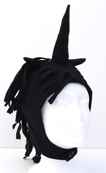 Unicorn Hood for Kids Unicorn Costume - Black