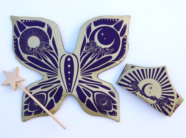 Celestial Fairy Wings - Purple and Gold