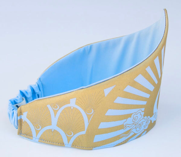 Celestial Crown for Fairy, Princess, Queen, King Costume - Gold and Light Blue