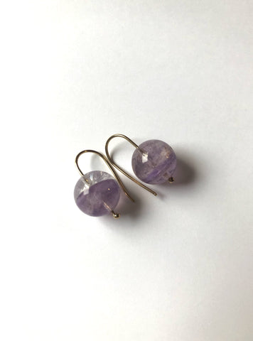 Lace amethyst earrings