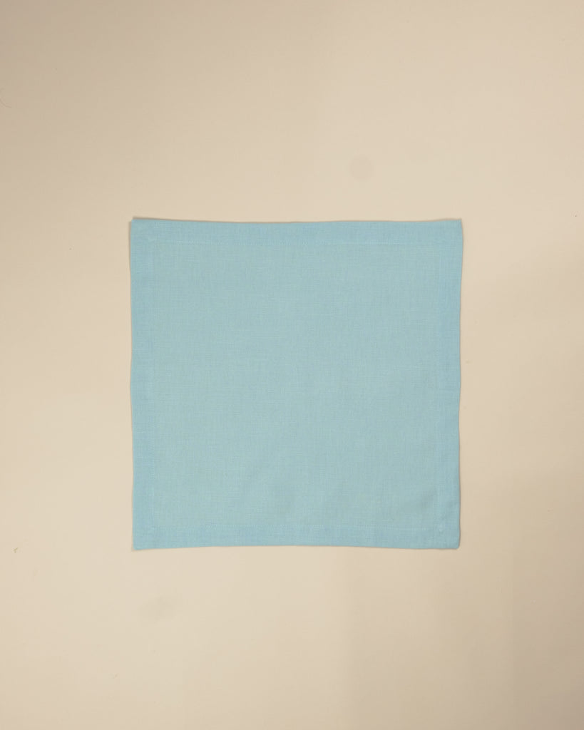 Plain light blue napkin