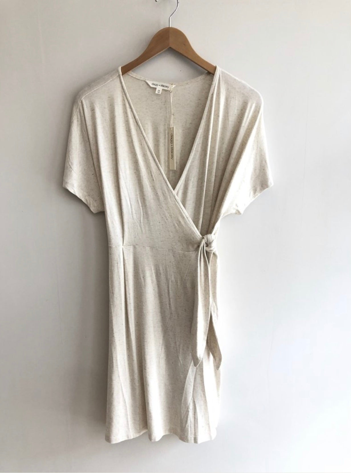 Jennings Knit Wrap Dress in 'Natural'