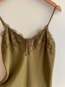 Lace Cami in Olive