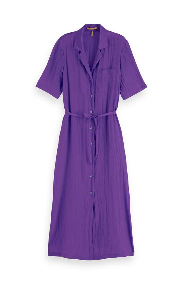 Hawaiian Shirt Dress in Purple