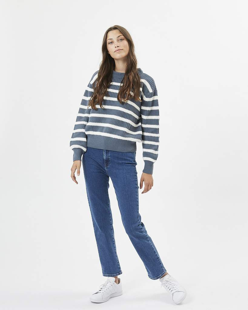 Mikala Jumper in Blue Stripe