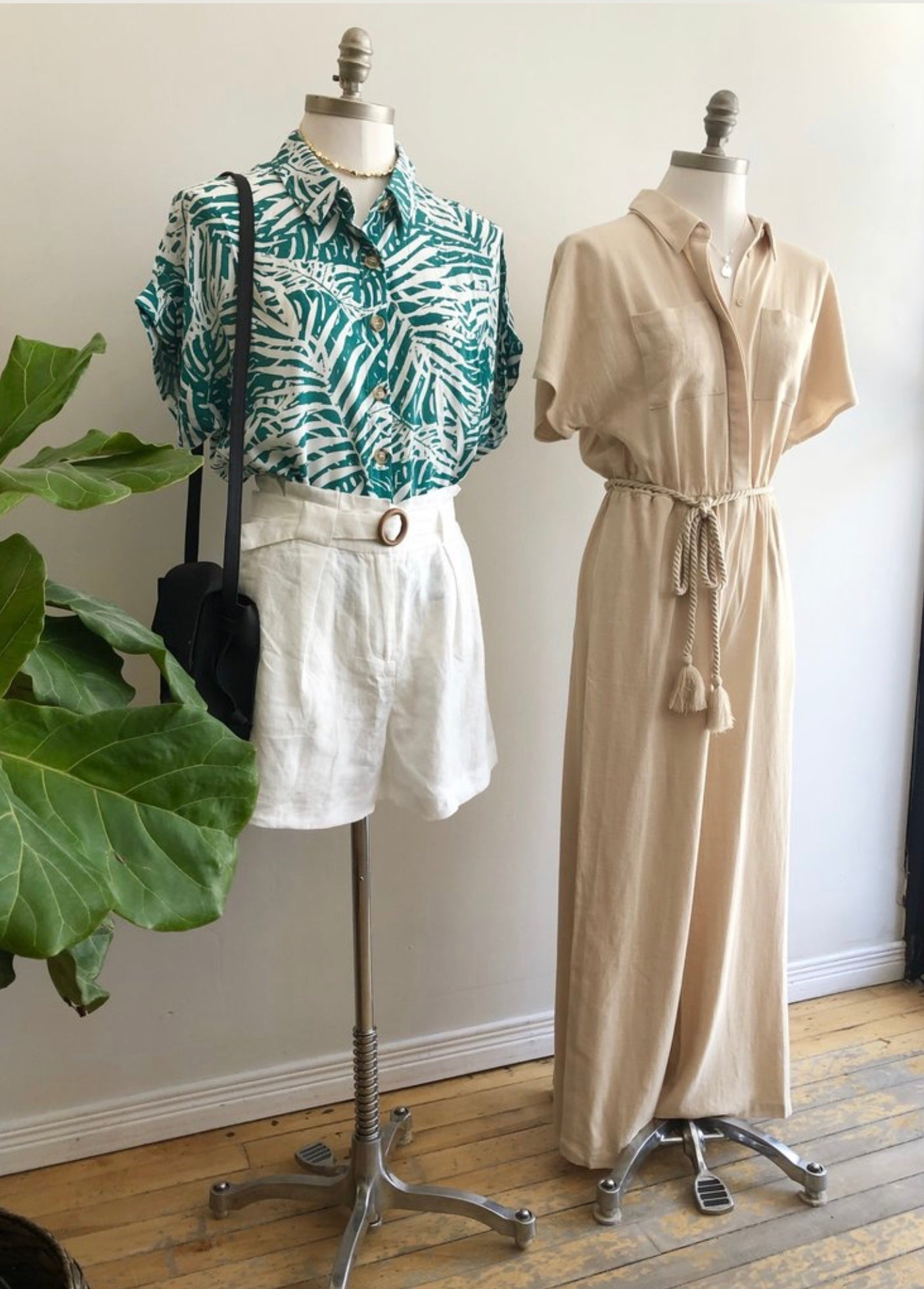 Rope Tie Jumpsuit in Natural