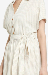 Rosana Striped Shirt Dress (Medium)