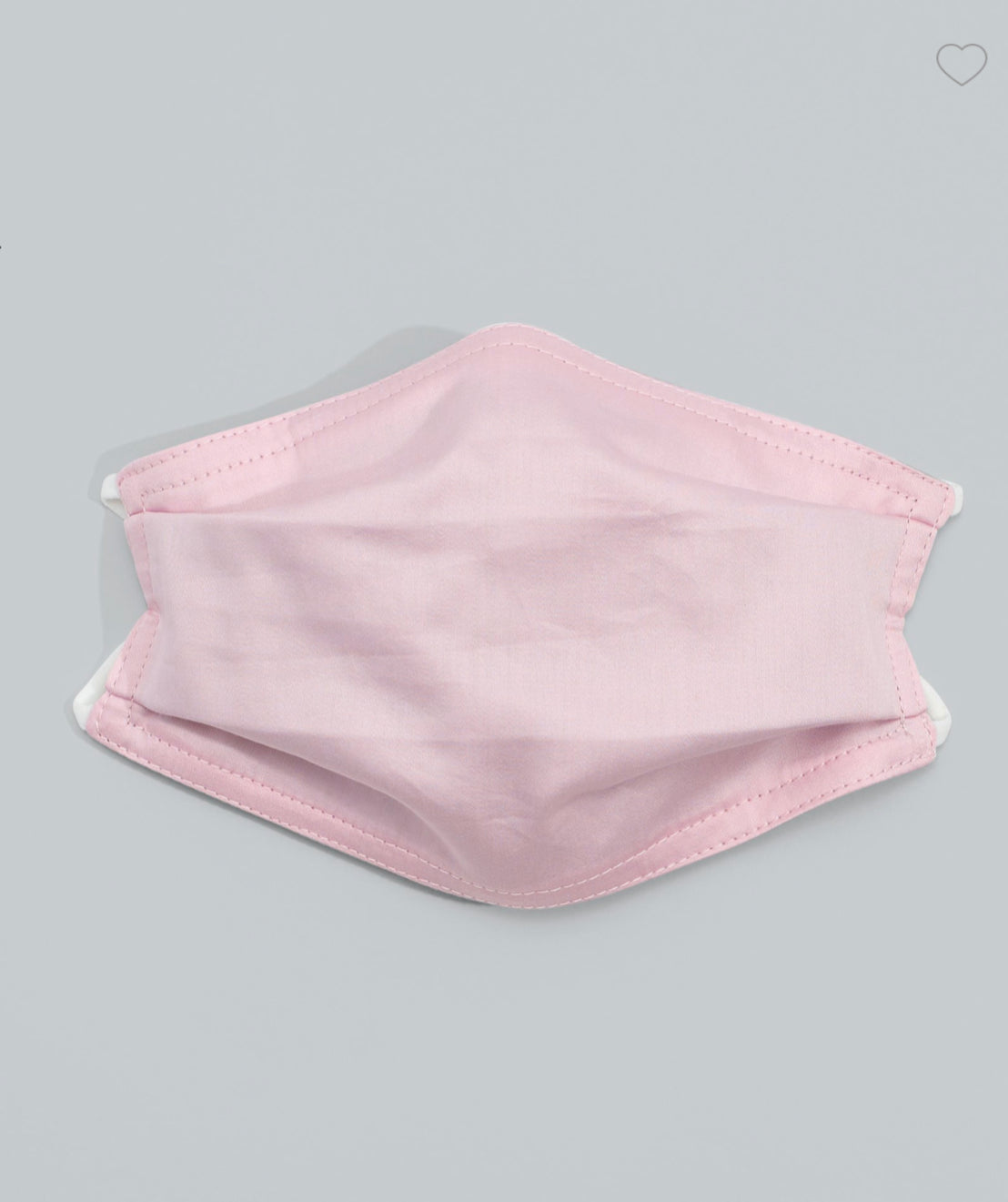 Solid 3 Layer Cotton Mask with Pocket in 'Peony'