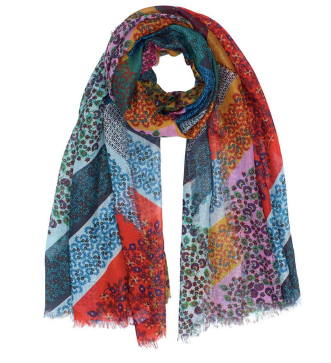 Patchwork Floral Ditsy Wrap (Multi)