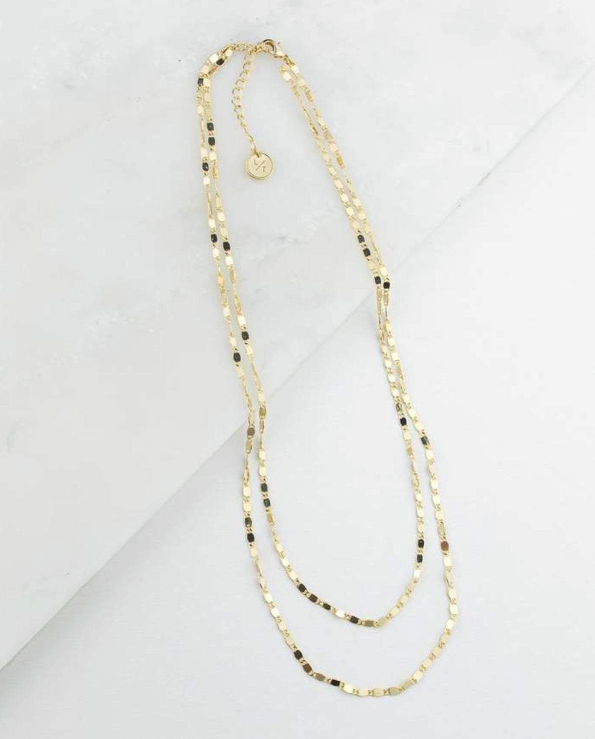 Cleo Layered Chain Necklace (Gold)