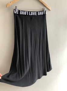 LOVE Bias Skirt in Black