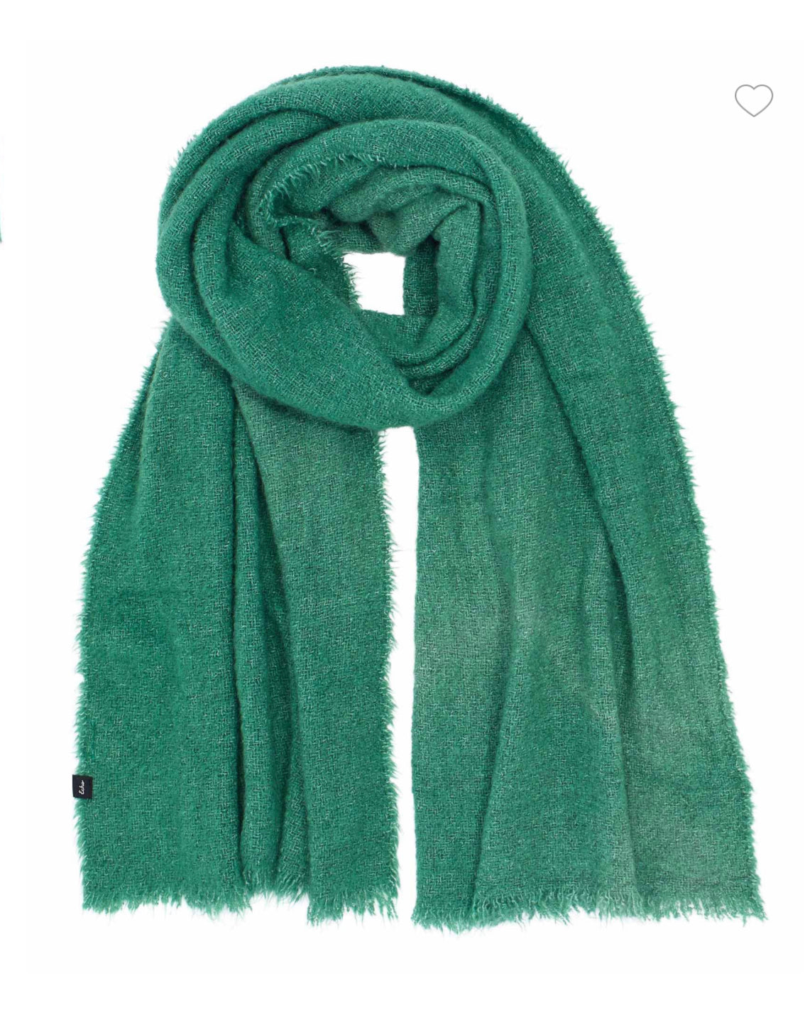 Plush Boucle Scarf in Pine
