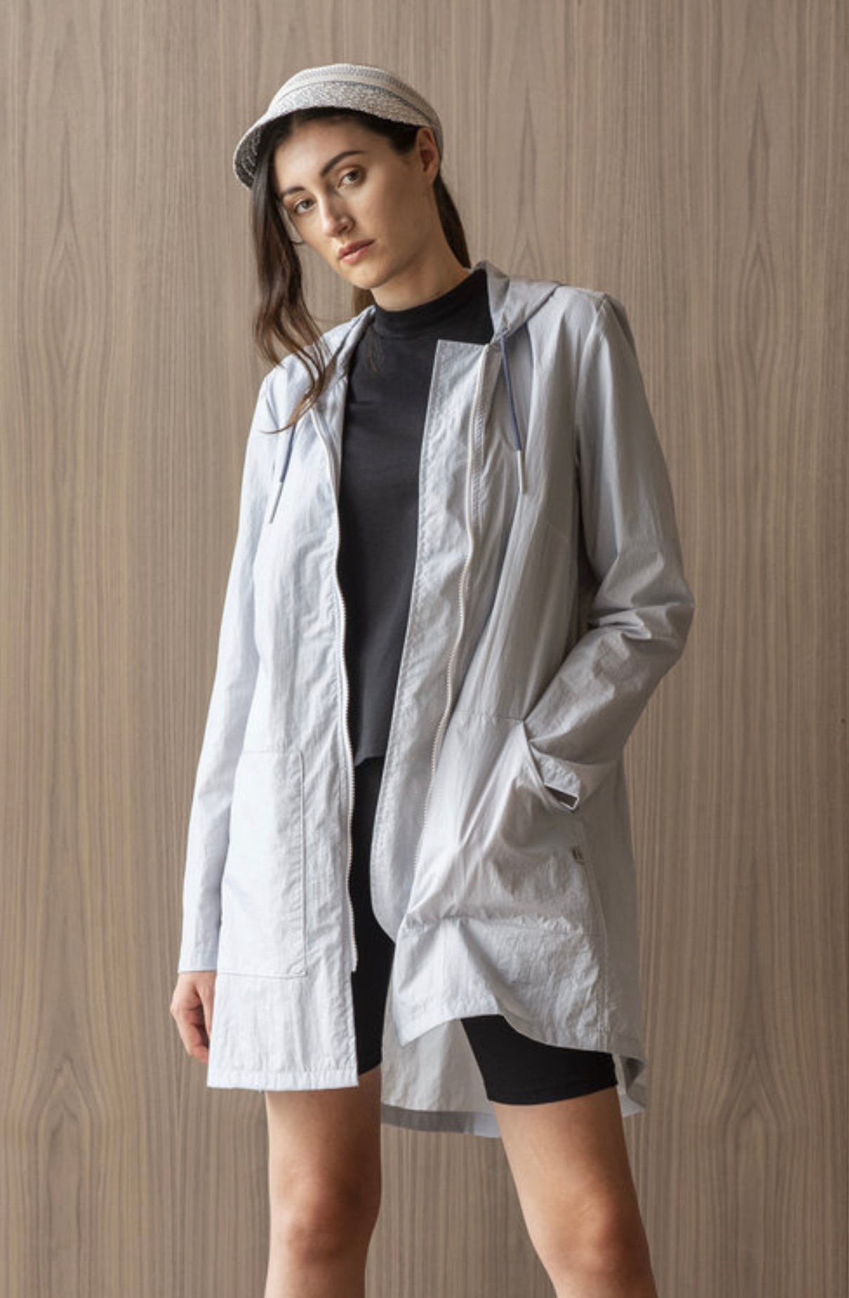 Skyline Rain Jacket in Light Grey
