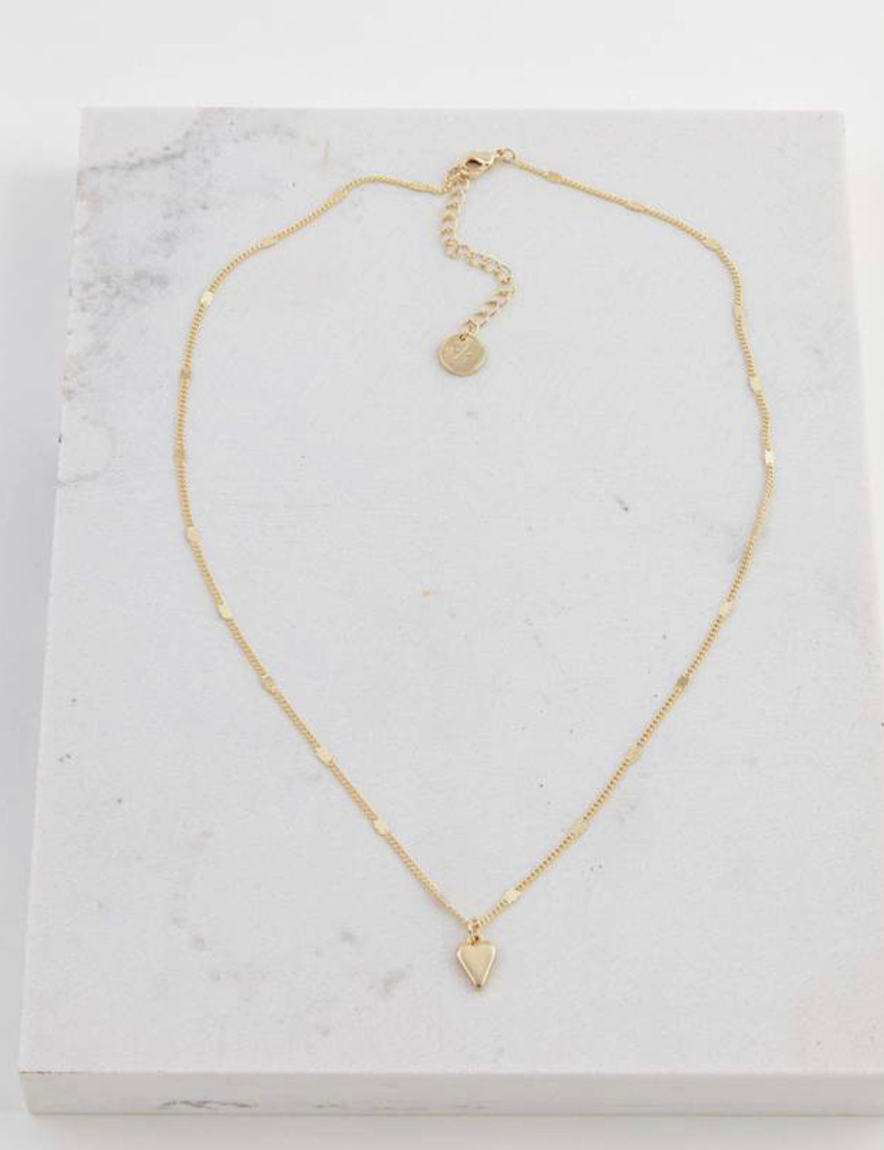 Everly Heart Necklace (Gold)