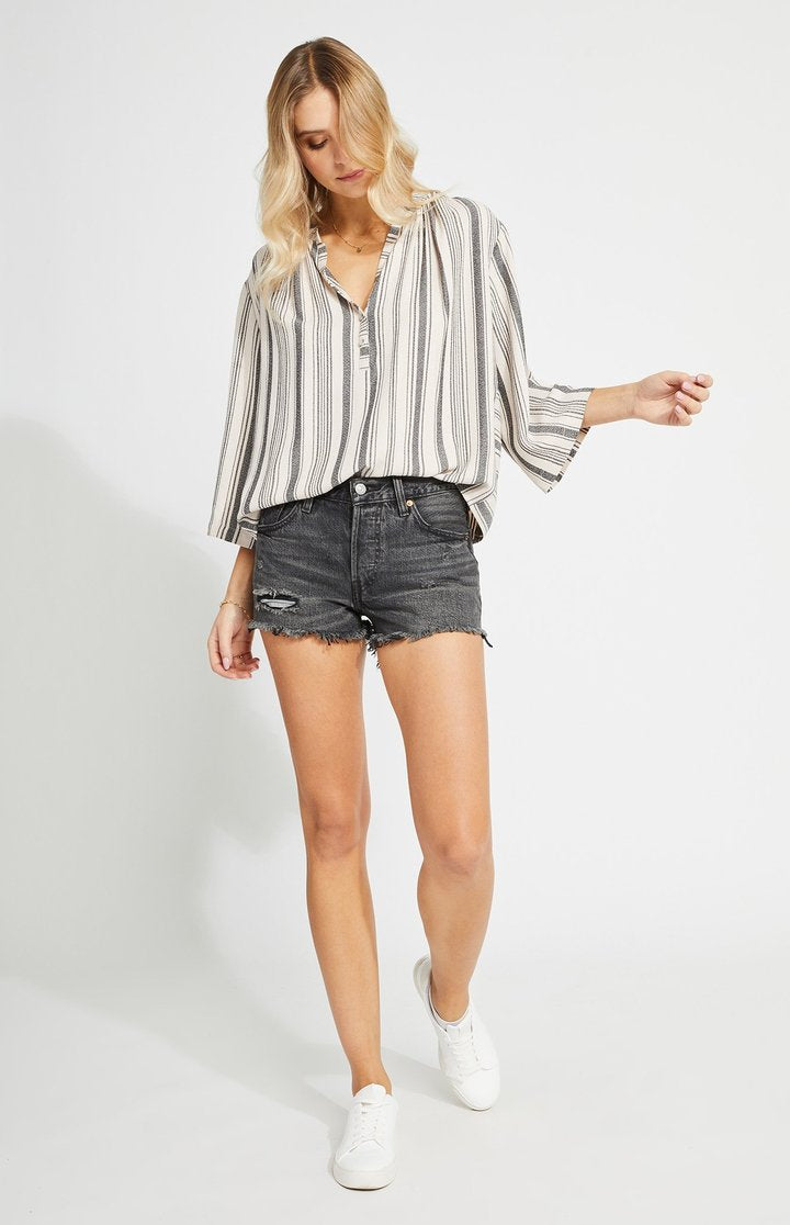Lindon Blouse in Putty