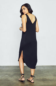 Kenna Double lined Jersey Dress in Black