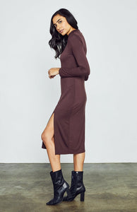 Ellowyn Dress in Deep Auburn