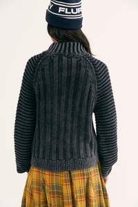 Sweetheart Sweater in Washed Black