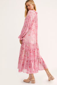 Feeling Groovy Maxi Dress in Summertime Pink