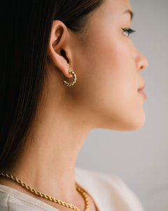 Dawson Hoop Earrings in Gold