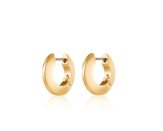 Toni Hinged Small Hoop Earrings (Silver, Gold)
