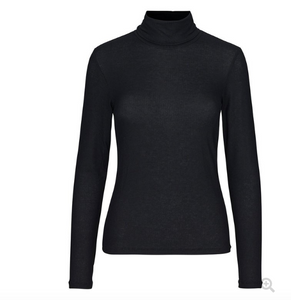 Millie Ribbed Lightweight Roll Neck in Black