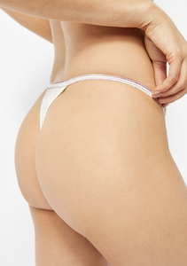 Gabriella Lace Thong in Ivory