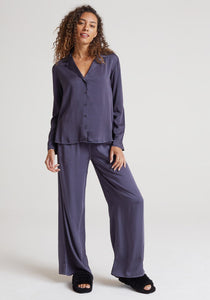 Wide Leg Pant in Graphite