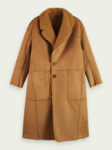 Reversible Faux Shearling Teddy Coat