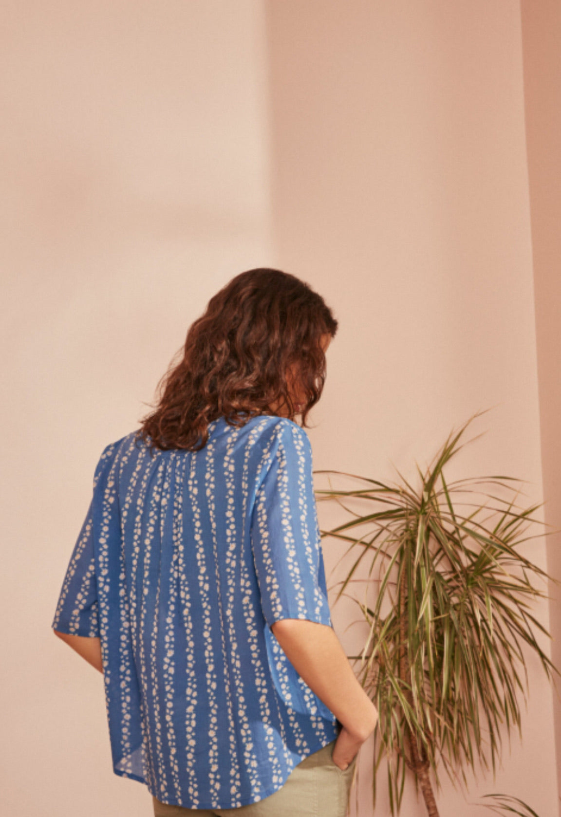 Eugenie Blouse in Daisy Print