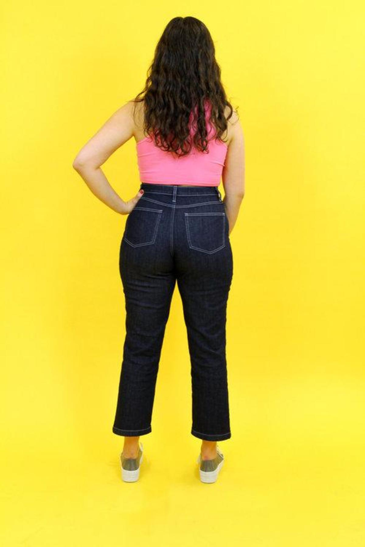 Line Up High Rise Denim in Dark Blue