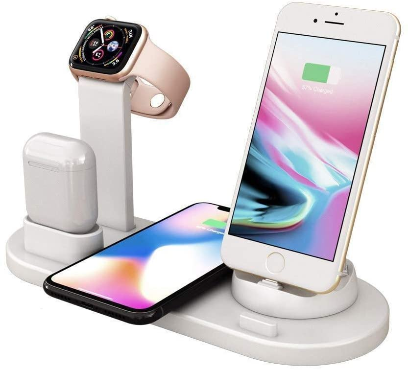 4-In-1 Charger Stand Wireless Charging Station - Shop4Lesss