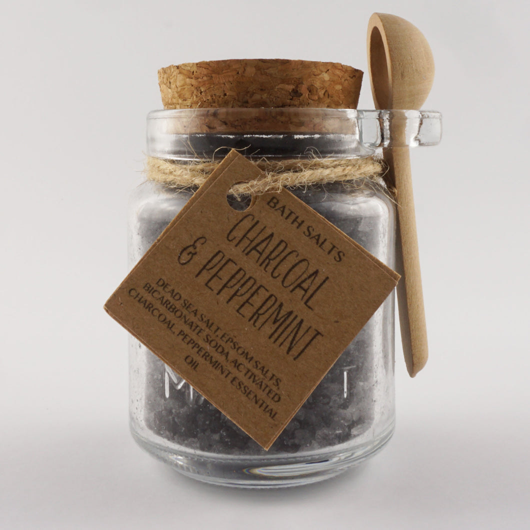 Charcoal & Peppermint Bath Salts