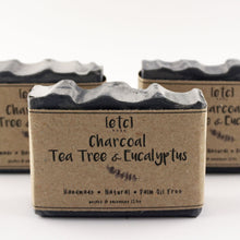 Load image into Gallery viewer, Charcoal, Tea Tree & Eucalyptus Artisan Soap