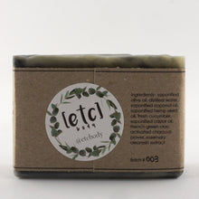 Load image into Gallery viewer, Cucumber, Charcoal & Hemp Artisan Soap