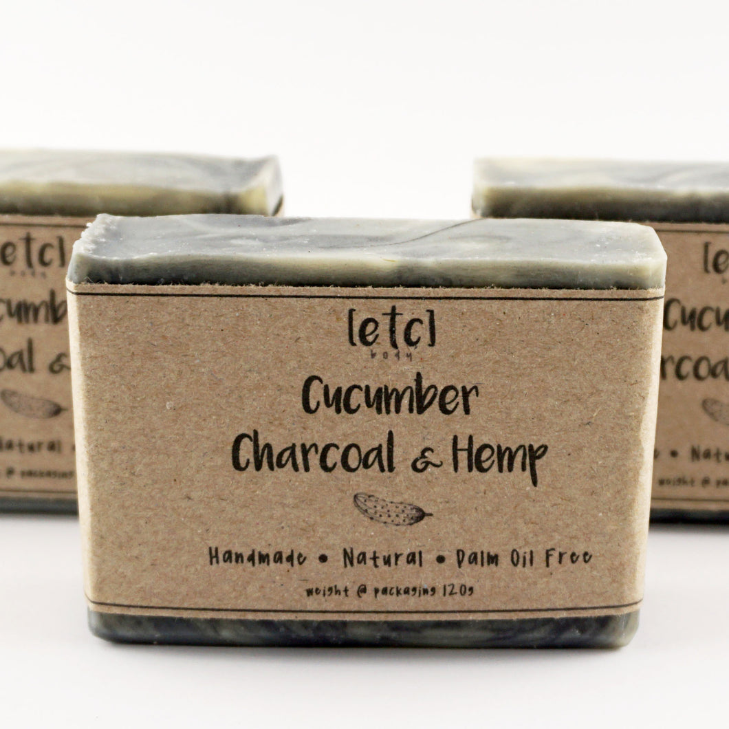 Cucumber, Charcoal & Hemp Artisan Soap