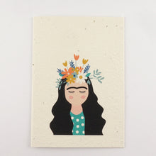 Load image into Gallery viewer, Frida Kahlo Plantable Seeded Greeting Card