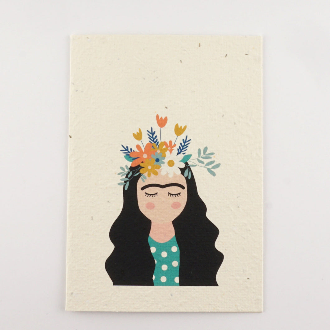 Frida Kahlo Plantable Seeded Greeting Card